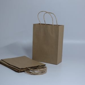 "Imported Brown Kraft Paper Bags (8""x11""x3.8"")"